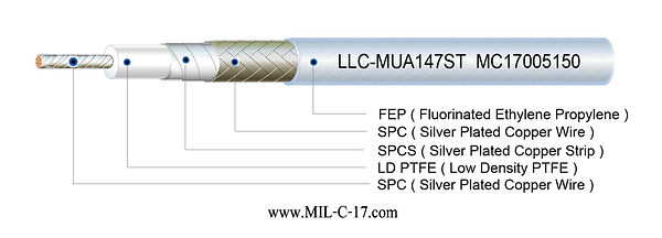 MUA147ST Low Loss Microwave Cable for Replacement of Micro-Coax UFA147B