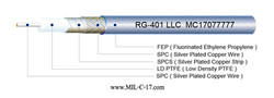 RG-401SS LLC Microwave Coaxial Cable