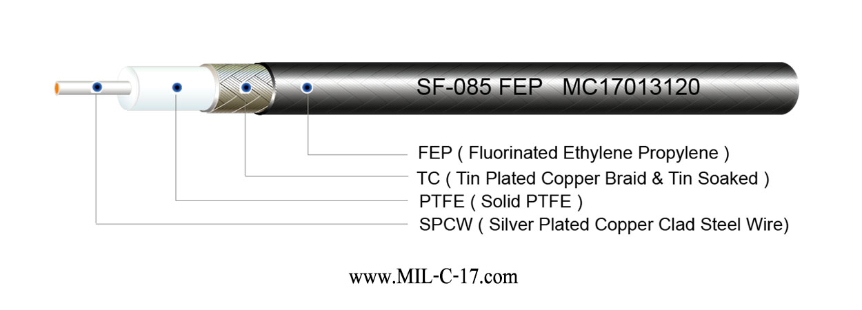 SF-085 FEP Semi-Flexible Cable