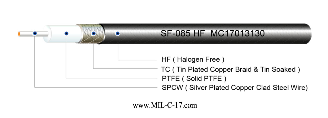 SF-085 HF Semi-Flexible Cable