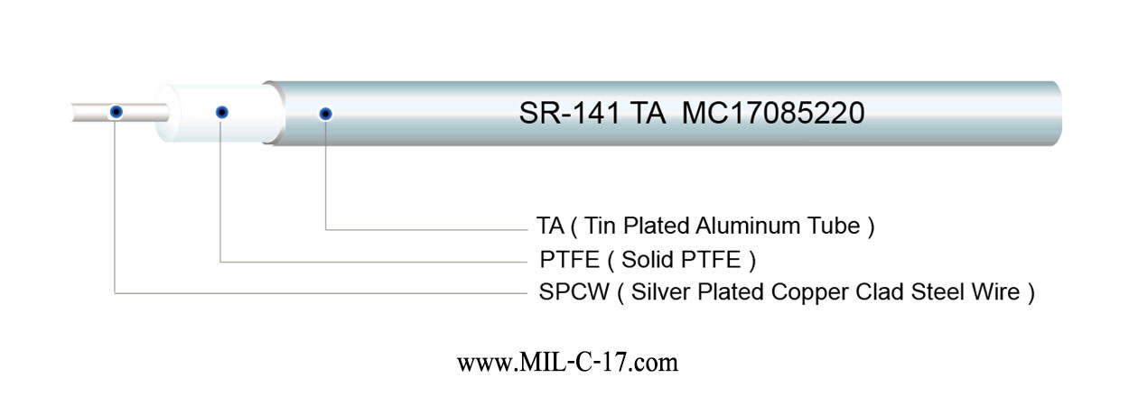 SR-141 TA Semi-Rigid Coaxial Cable