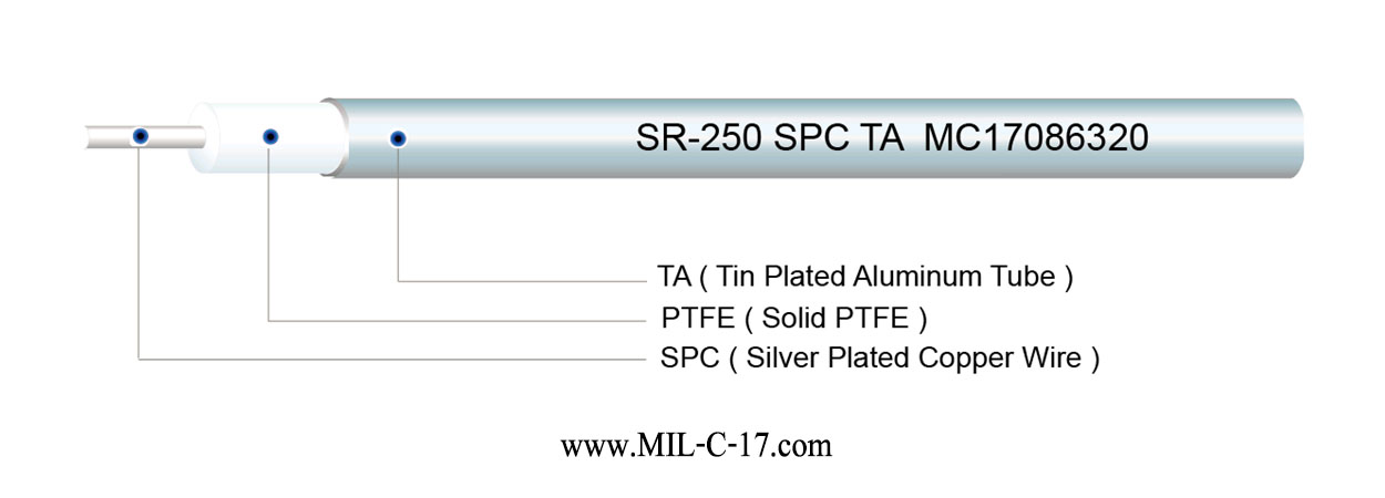 SR-250 SPC TA Semi-Rigid Cable