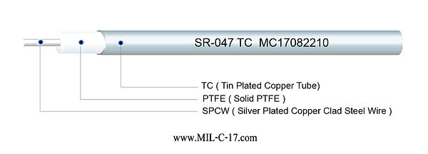 SR-047 TC Semi-Rigid RF Cable with Tin Plated Copper Tube, SR047 TC