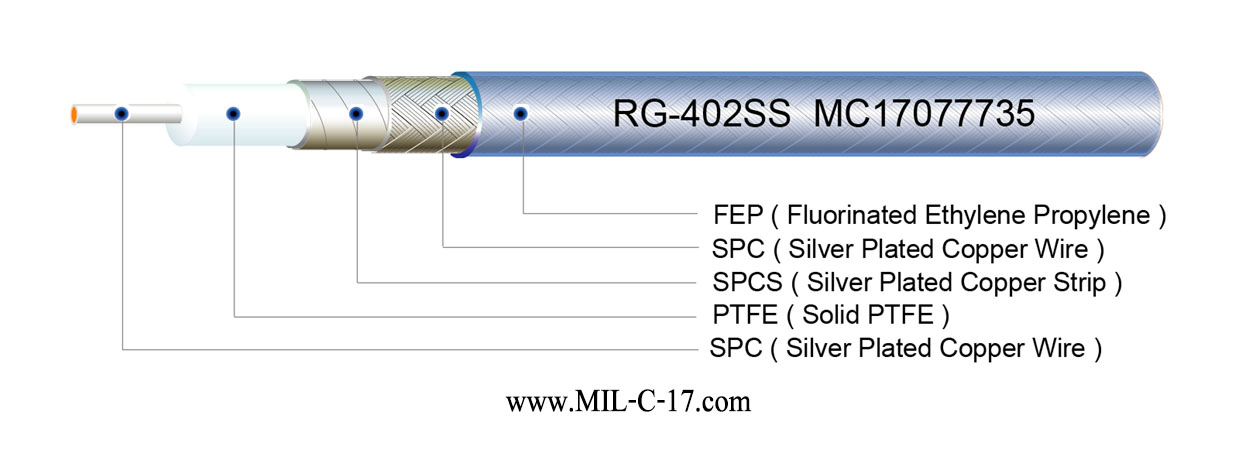 RG-402SS Microwave Cable for 18.0GHz