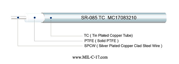 SR-085 TC Semi-Rigid RF Cable with Tin Plated Copper Tube, SR085 TC