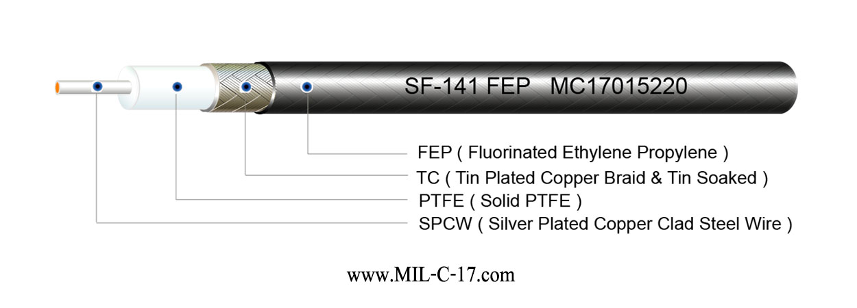 SF-141 FEP Semi-Flexible Cable