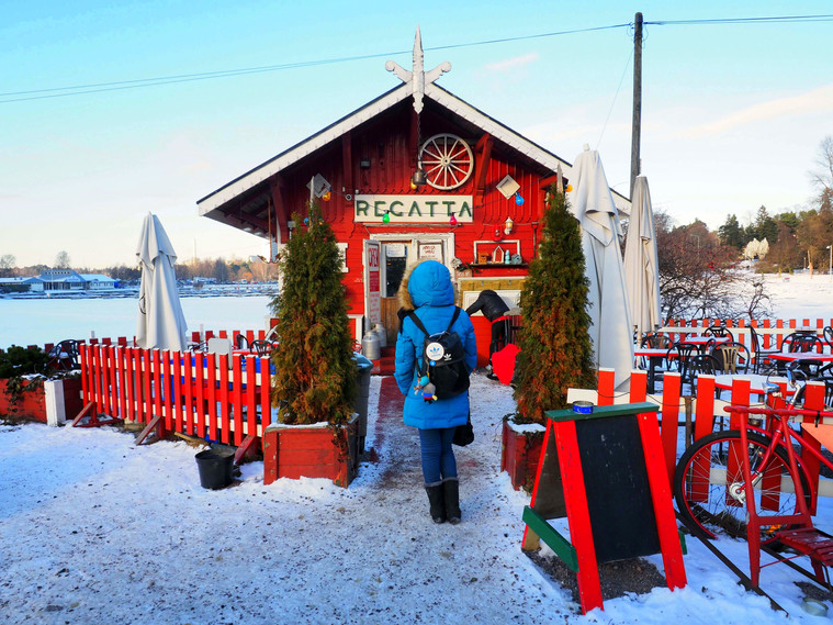 White Snow and Red Cafes