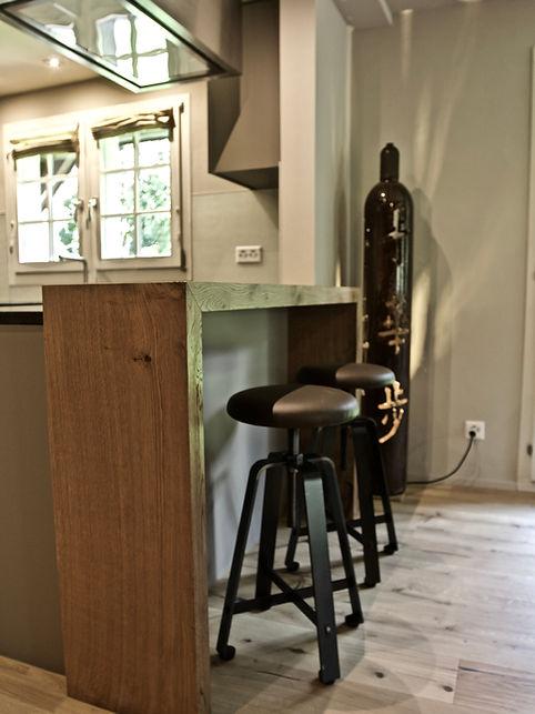 Küche mit Bar Umbau