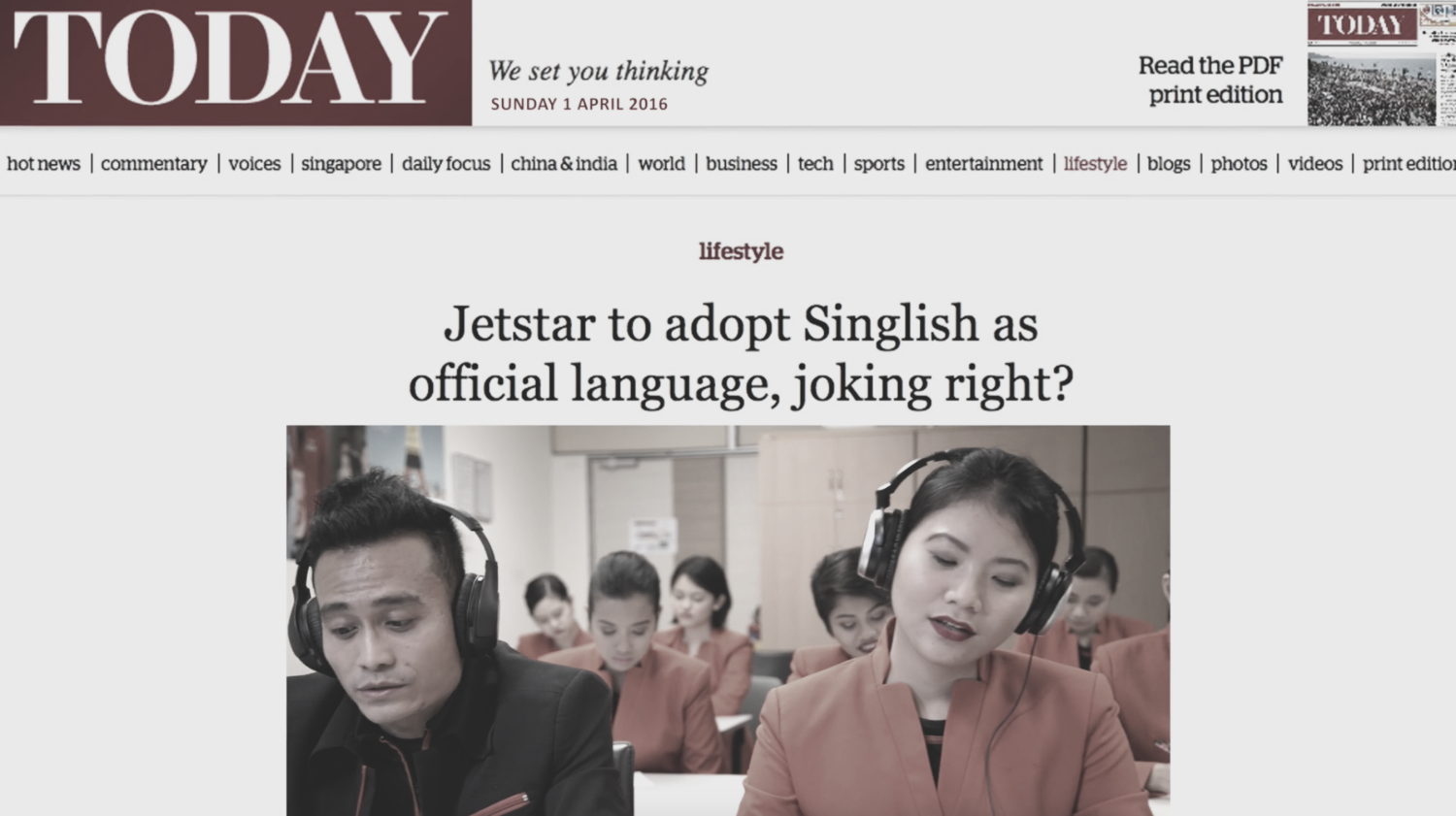 Jetstar Goes Singlish Lah!