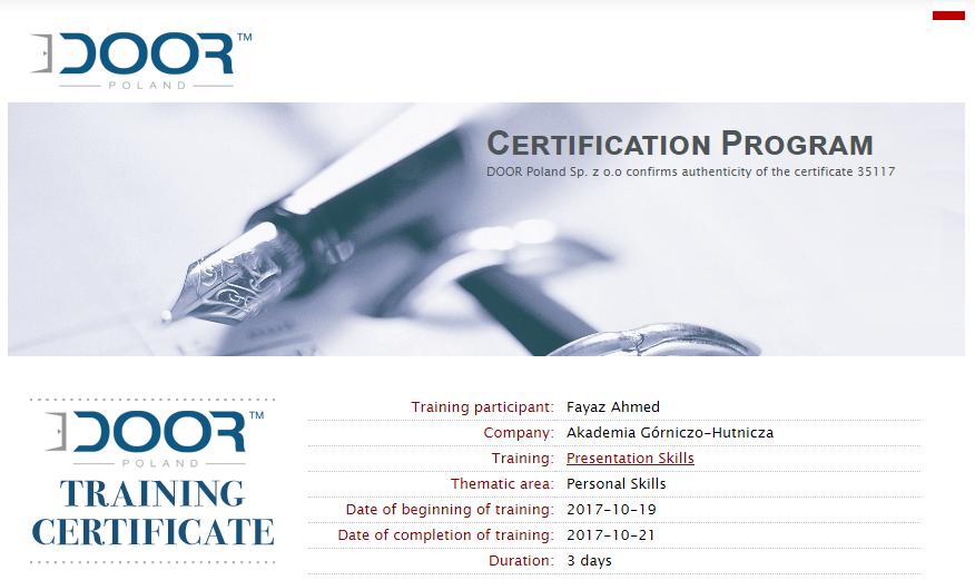 Public Speaking Certification