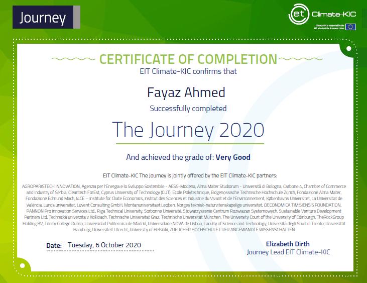 EIT Climate-KIC Journey 2020