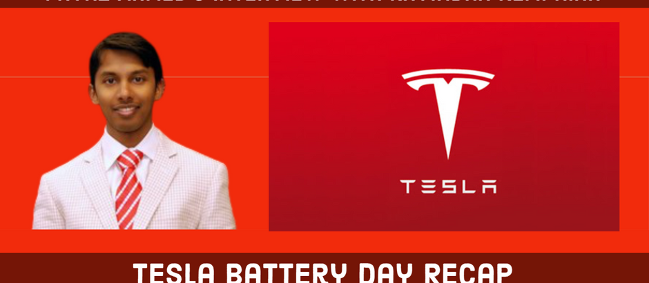 Tesla Battery Day recap with Ravindra Kempaiah, PhD Candidate at University of Illinois at Chicago
