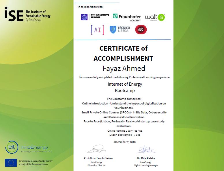 Internet of Energy Bootcamp