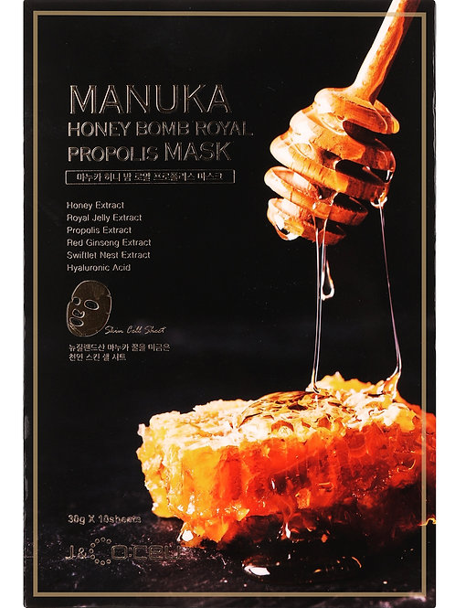 Маски для лица Manuka Honey Bomb Royal Propolis 10 шт.