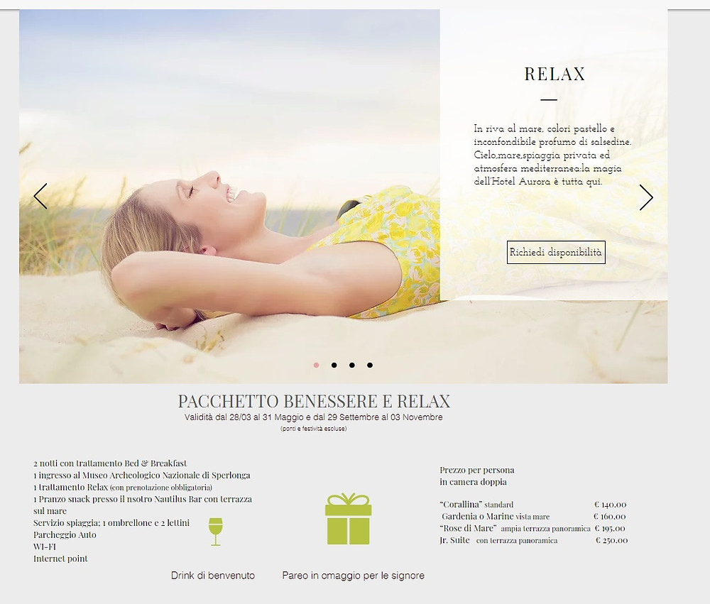Relax package - Pacchetto Relax