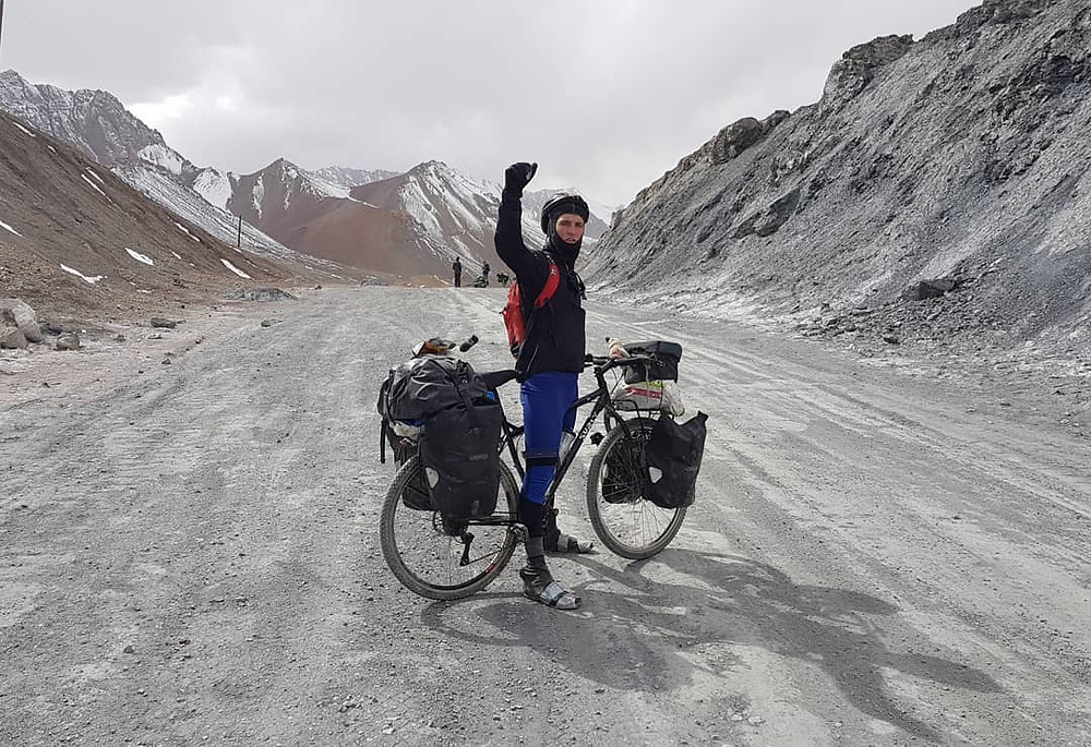 15,272ft up my bike in Tajikistan