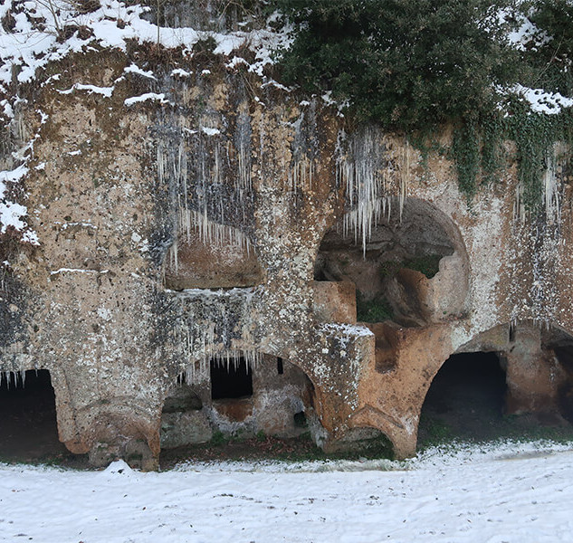 Ancient Doorways Covered With Italian Icicles