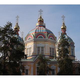A Russian Orthodox Church in Almaty