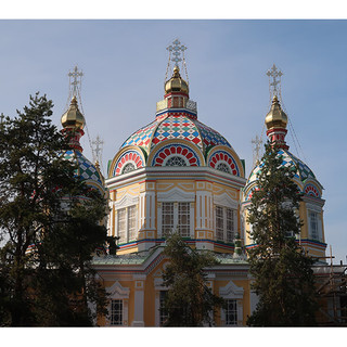 A Russian Orthodox Church in Almaty