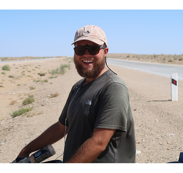 """Fredward (a.k.a """"The Ox"""") Being a Smiley Chappy in the Desert"""