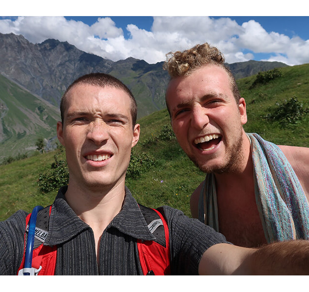 A Mountain Selfie in the Sharp and Scenic Caucus Mountains