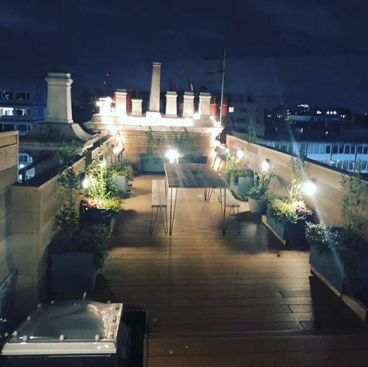 Roof terrace design in Notting Hill, London