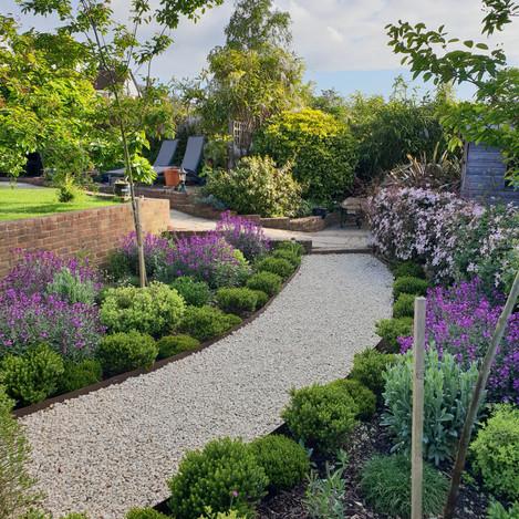 Office entrance garden design
