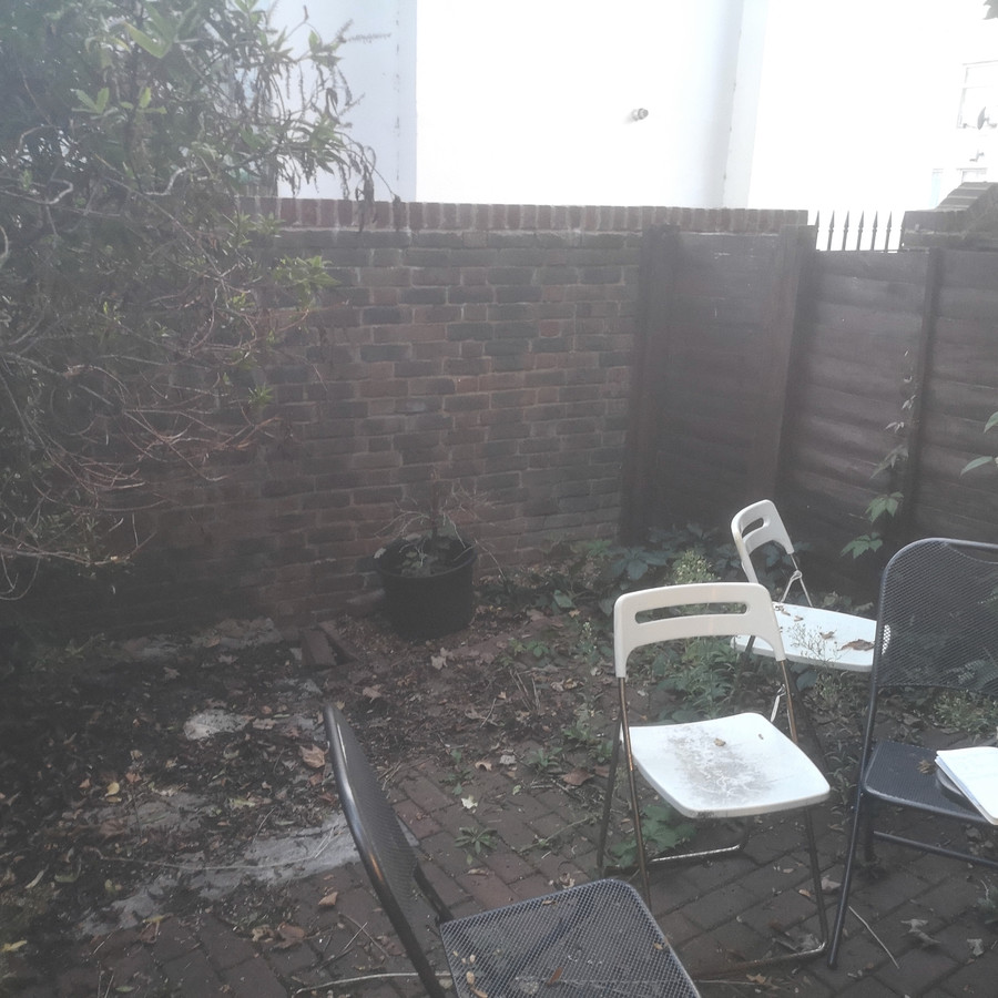 Before Garden design in Stockwell, London