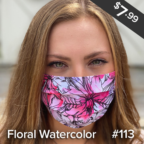 Floral Watercolor Mask