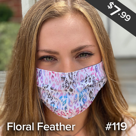 Floral Feather Mask