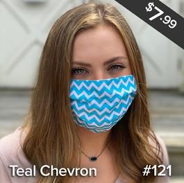 Teal Chevron Mask