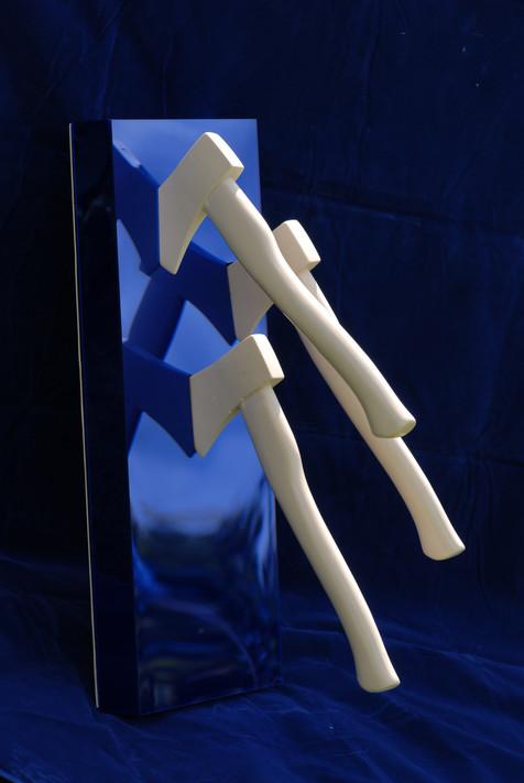 Three Axes - Blue