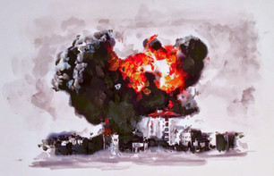 War Meds I - Oil painting on panel
