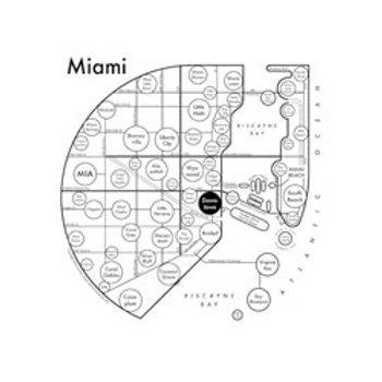 Miami Map Print