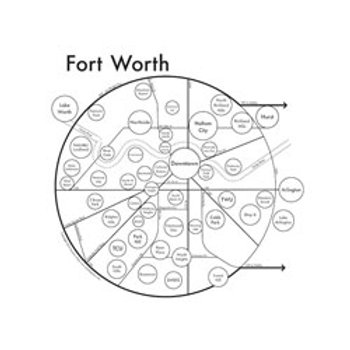 Fort Worth Map pring