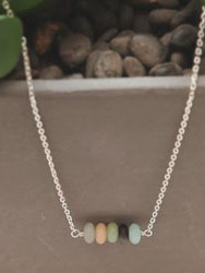 Elements- Amazonite sterling silver neck