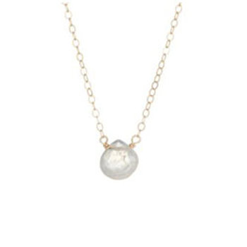 Dainty rainbow moonstone 14K gold filled necklace // bridesmaid gift