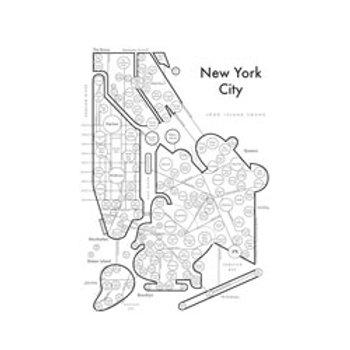 New York City Map Print