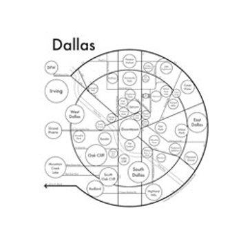 Dallas Map Print