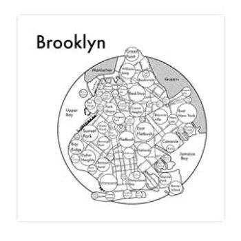 Brooklyn Map Print