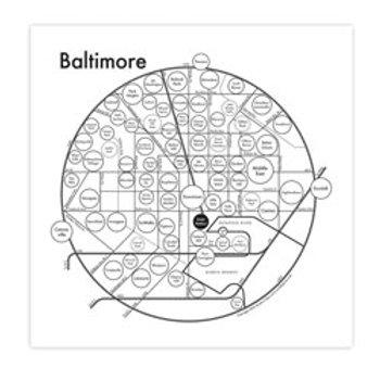 Baltimore Map Print