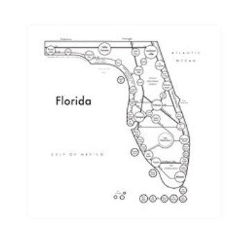 Florida Map Print
