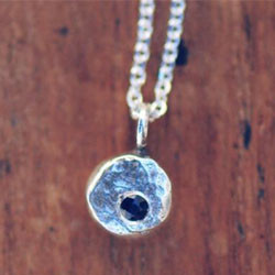 Elemental pebble sterling silver necklac
