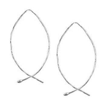 Audrey sterling silver dangle earrings