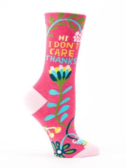 I Don't Care Sock