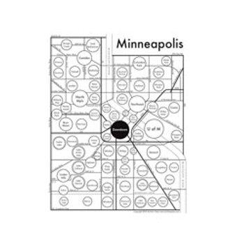 Minneapolis Map Print