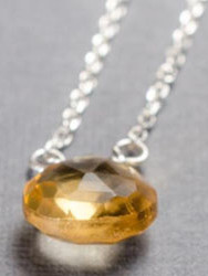 Citrine little rock sterling silver neck