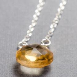 Citrine little rock sterling silver neck