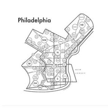Philadelphia Map Print