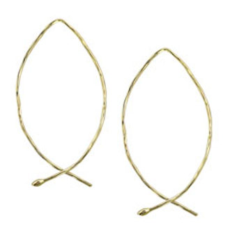 Audrey 14K gold plated sterling silver dangle earrings